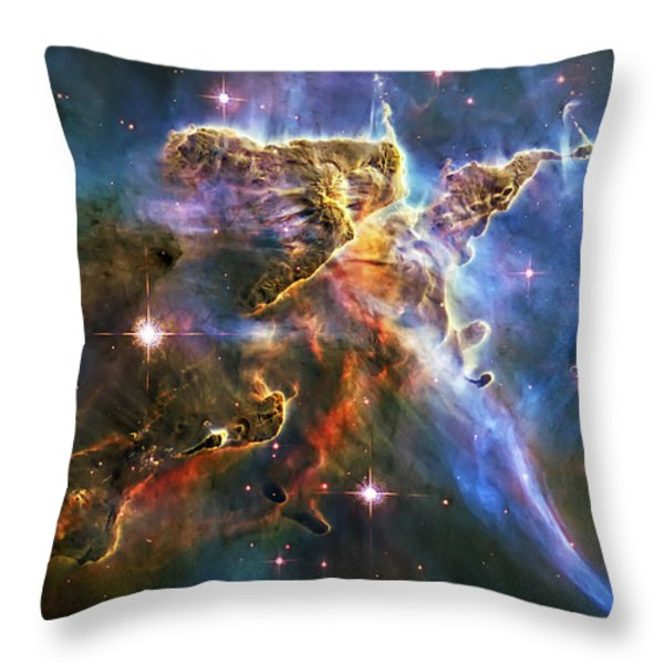 Carina Nebula 6 Throw Pillow by The  Vault - Jennifer Rondinelli Reilly