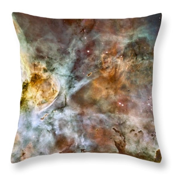 Carina Nebula Throw Pillow by Adam Romanowicz