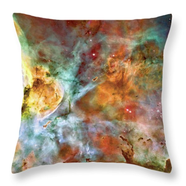 Carina Nebula - Interpretation 1 Throw Pillow by The  Vault - Jennifer Rondinelli Reilly