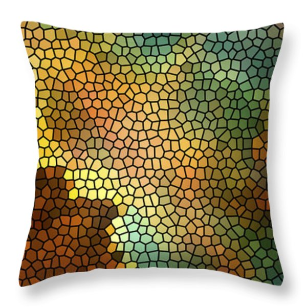 Carina Nebula Mosaic  Throw Pillow by The  Vault - Jennifer Rondinelli Reilly