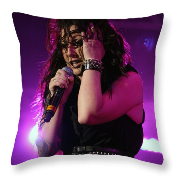 Carly In Concert Throw Pillow by Shoal Hollingsworth