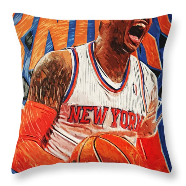 Carmelo Anthony Throw Pillow by Taylan Soyturk
