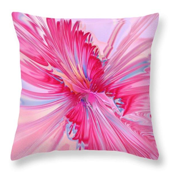 Carnation Pink Throw Pillow by Anastasiya Malakhova