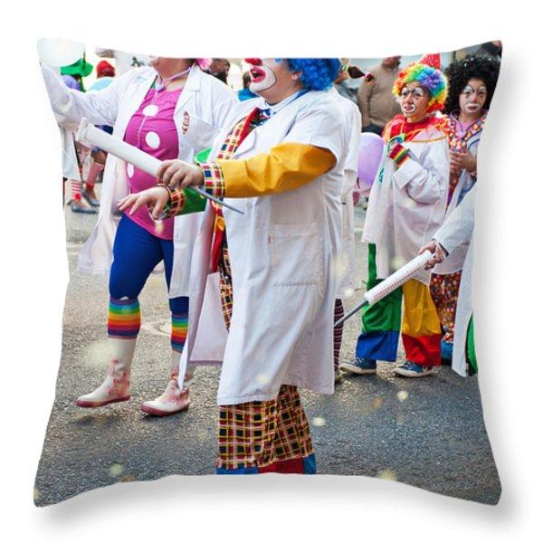 Carnaval De Ourem Throw Pillow by Luis Alvarenga