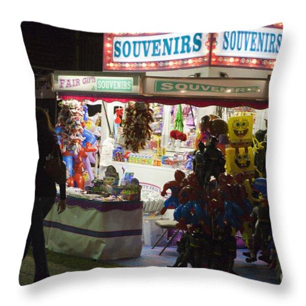 Carnival Souvenirs Throw Pillow by Jason O Watson