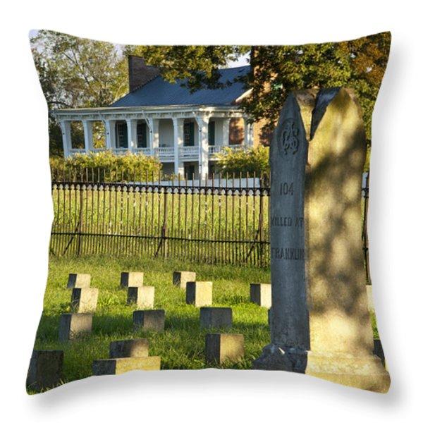 Carnton Plantation Throw Pillow by Brian Jannsen