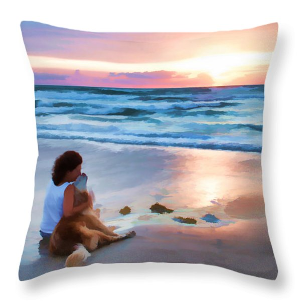 Caro Y Bella Throw Pillow by Alice Gipson