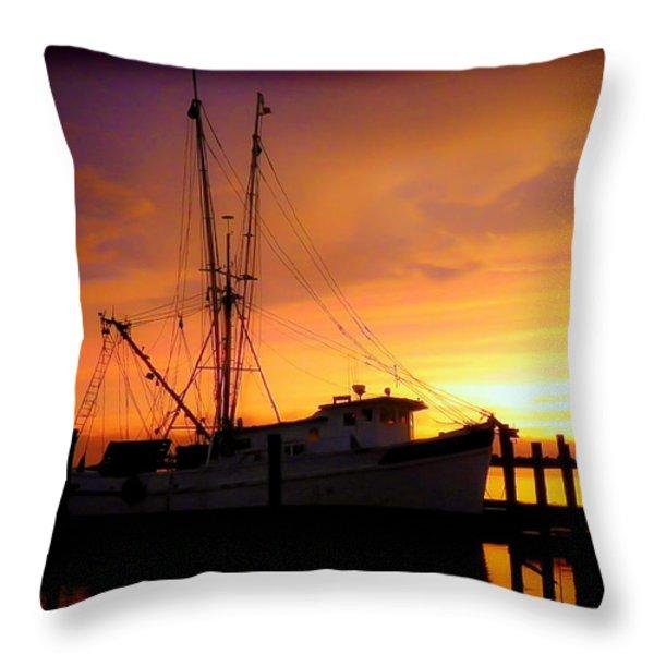 CAROLINA MORNING Throw Pillow by KAREN WILES