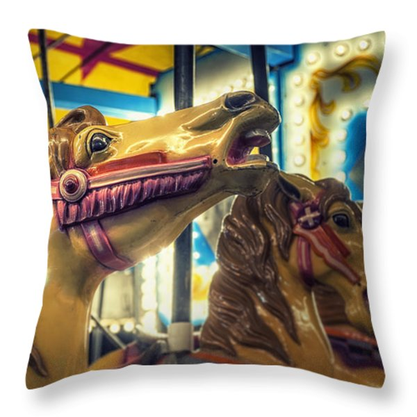 Carousel Throw Pillow by Scott Norris