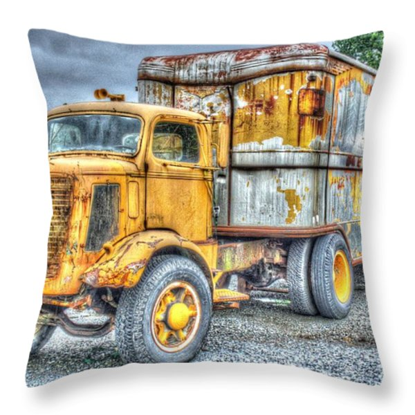 Carrier Throw Pillow by Dan Stone