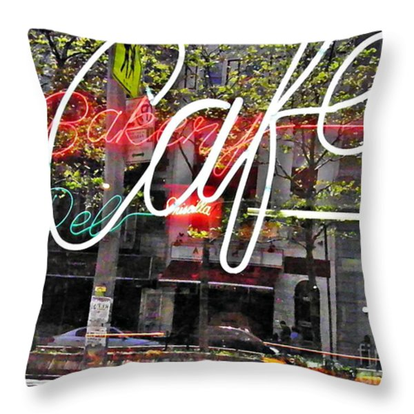 Carrot Top On Broadway Throw Pillow by Sarah Loft