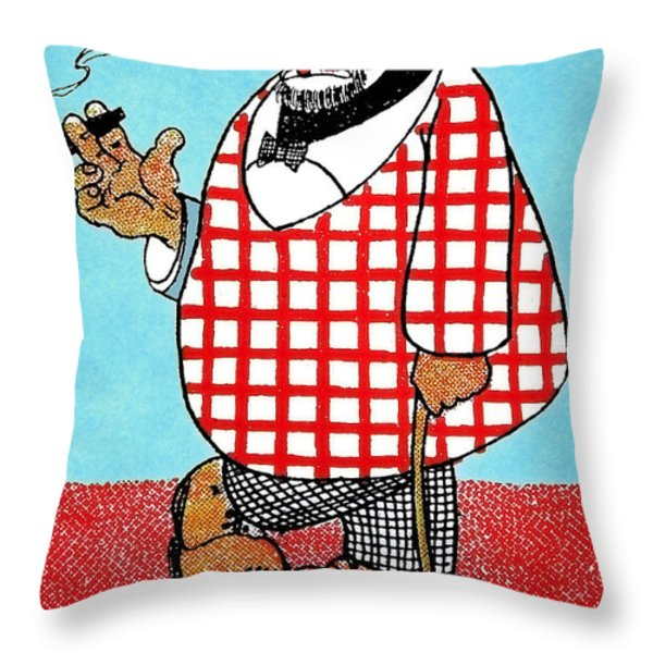 Cartoon 05 Throw Pillow by Svetlana Sewell