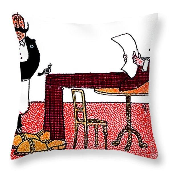 cartoon 06 Throw Pillow by Svetlana Sewell