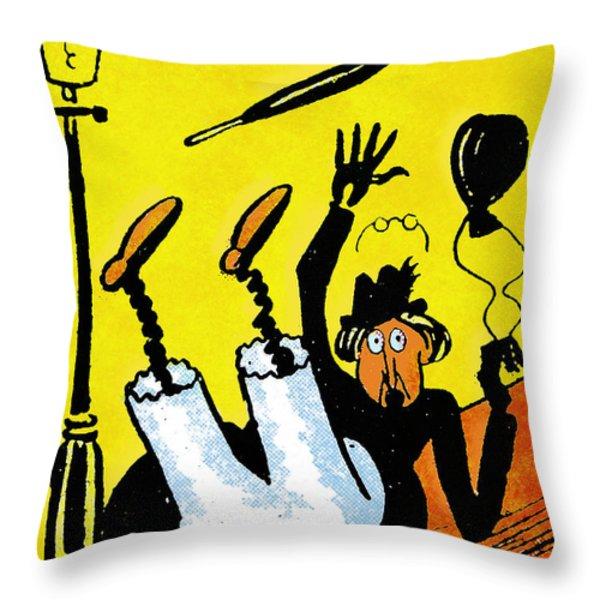 Cartoon 07 Throw Pillow by Svetlana Sewell