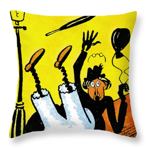 Cartoon 07 Throw Pillow by Svetlana Sewell
