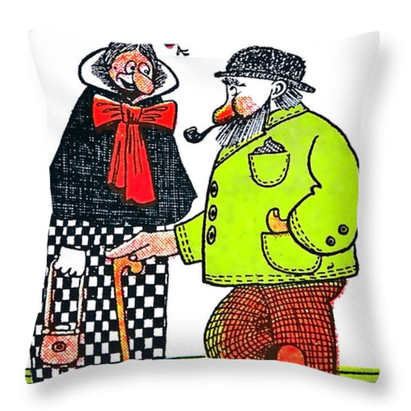 Cartoon 08 Throw Pillow by Svetlana Sewell