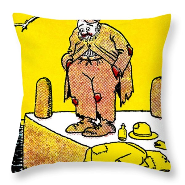 Cartoon 09 Throw Pillow by Svetlana Sewell