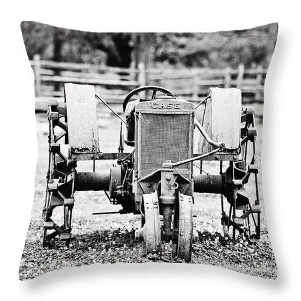 Case Tractor Throw Pillow by Scott Pellegrin