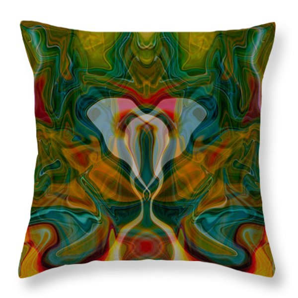 Casting Spells Throw Pillow by Omaste Witkowski