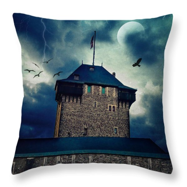 Castle Burg Throw Pillow by Angela Doelling AD DESIGN Photo and PhotoArt