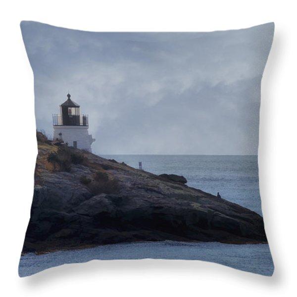 Castle Hill Dream Throw Pillow by Joan Carroll