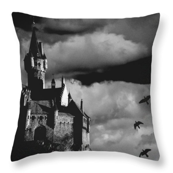 Castle in the sky Throw Pillow by Bob Orsillo