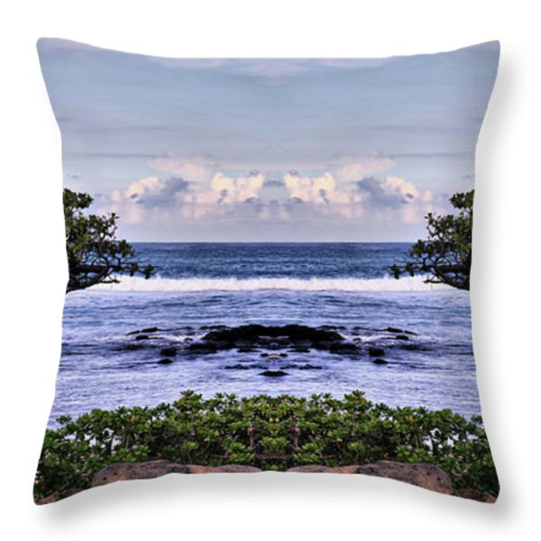 Castle In The Sky Throw Pillow by Cheryl Young
