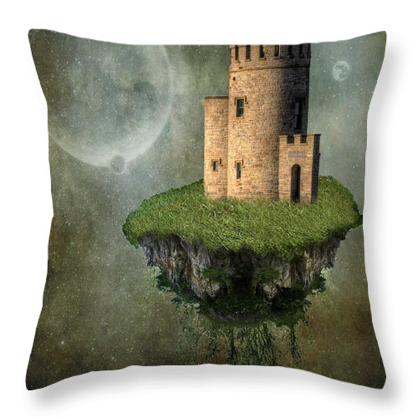 Castle in the Sky Throw Pillow by Juli Scalzi