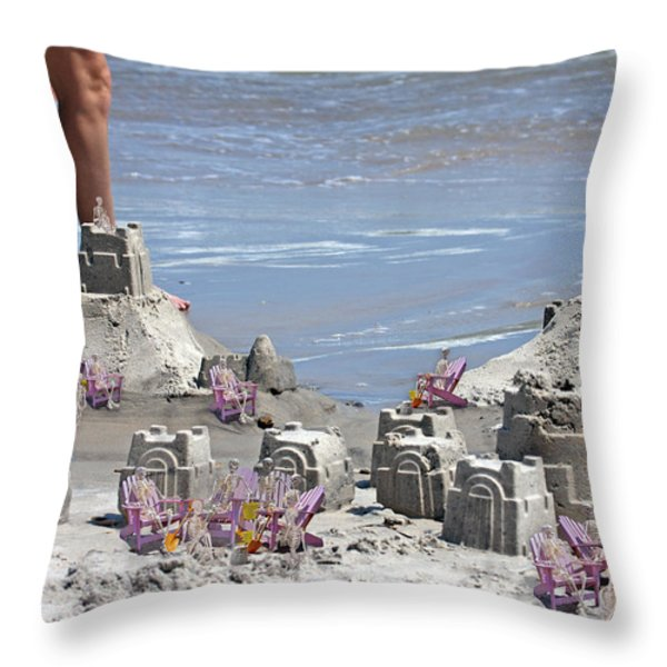 Castle Kingdom  Throw Pillow by Betsy A  Cutler