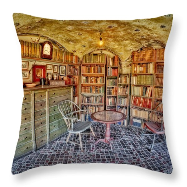 Castle Map Room Throw Pillow by Susan Candelario