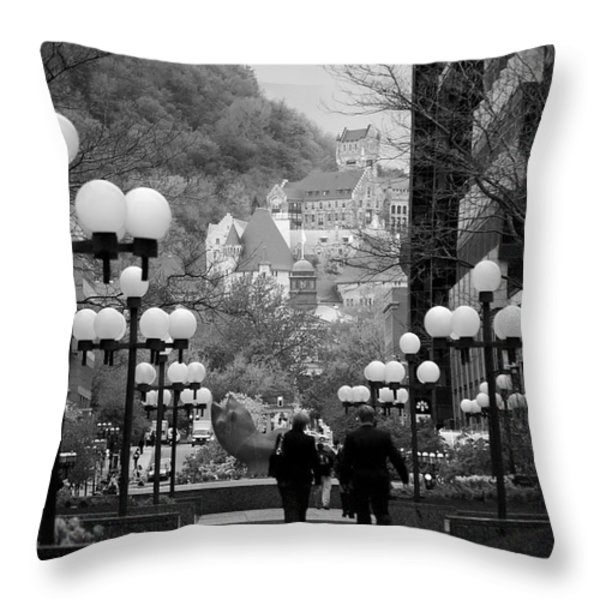 Castle On A Hill Throw Pillow by Lisa Knechtel