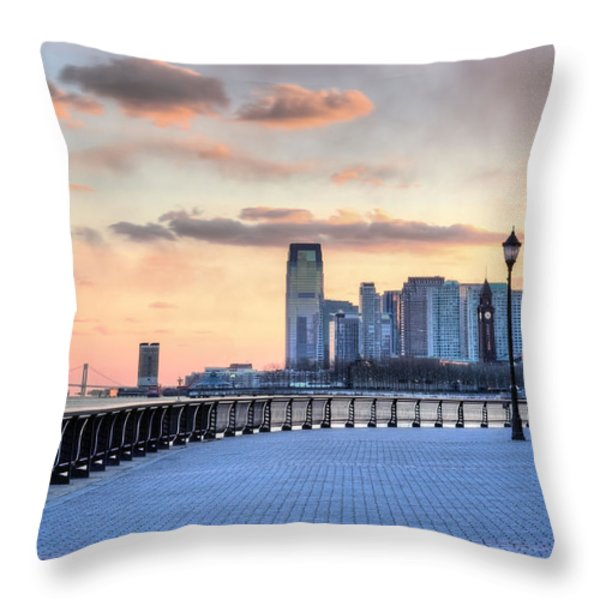 Castle Point V Throw Pillow by JC Findley