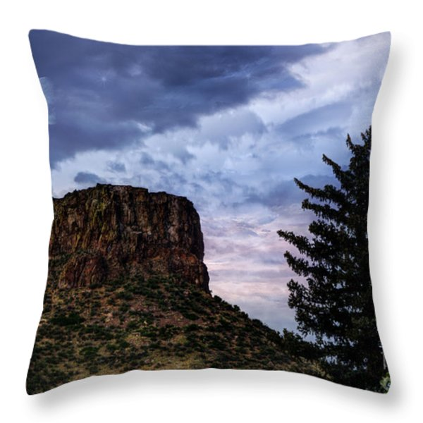 Castle Rock Throw Pillow by Juli Scalzi