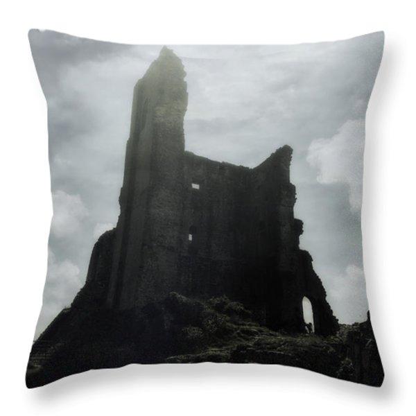 castle ruin Throw Pillow by Joana Kruse