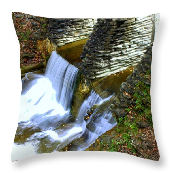 Castle Wall Throw Pillow by J Allen