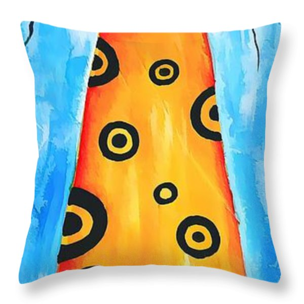 Cat 649 - marucii Throw Pillow by Marek Lutek
