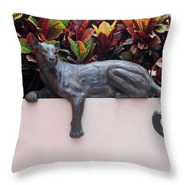 CAT Throw Pillow by ROB HANS