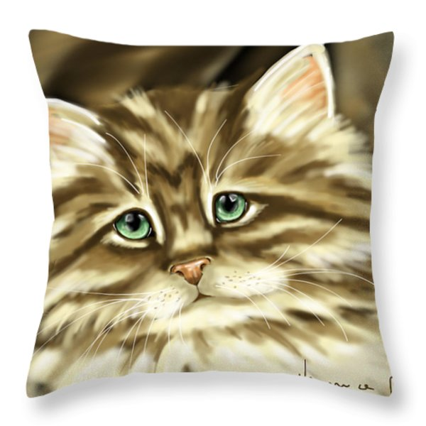 Cat Throw Pillow by Veronica Minozzi