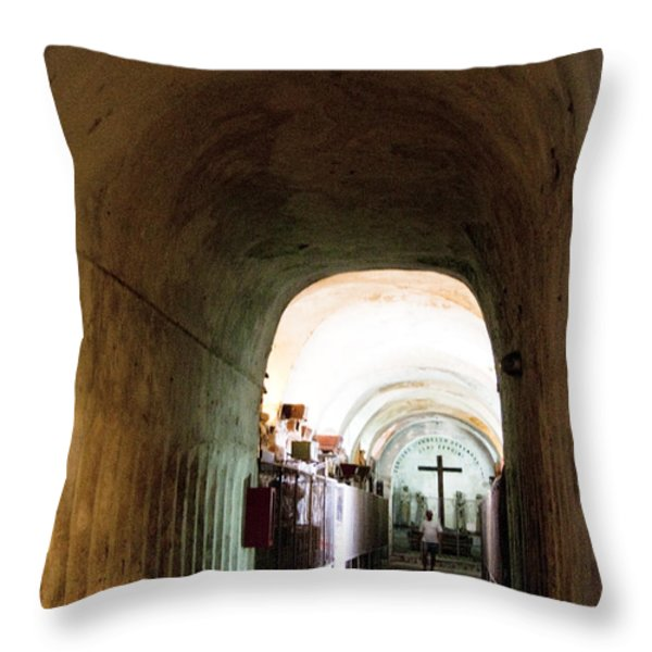 Catacombs in Palermo Throw Pillow by David Smith