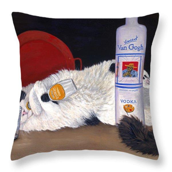 Catatonic Throw Pillow by Karen Zuk Rosenblatt