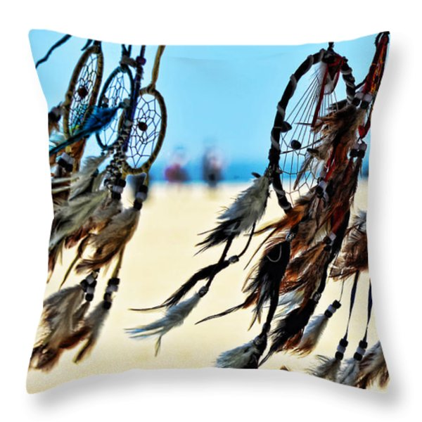 Catch The Dream Throw Pillow by Camille Lopez