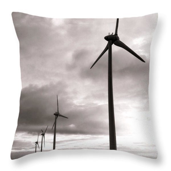 Catch The Wind Throw Pillow by Olivier Le Queinec