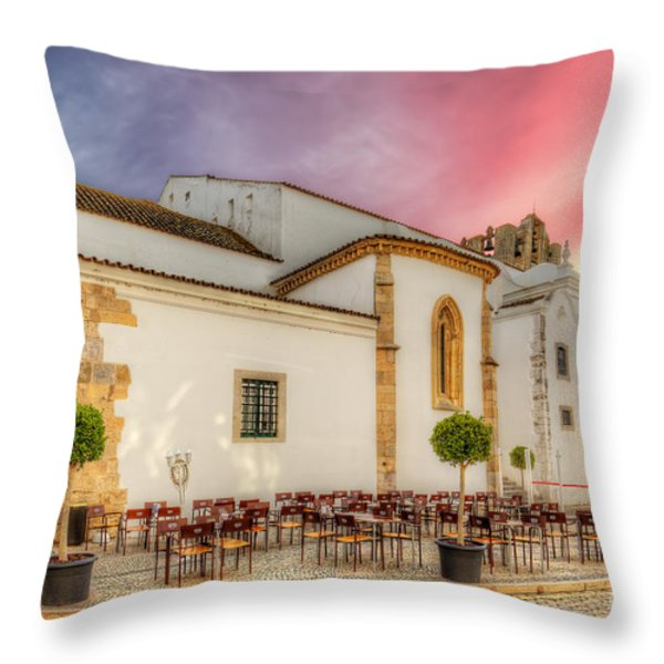 Cathedral Cafe Throw Pillow by English Landscapes