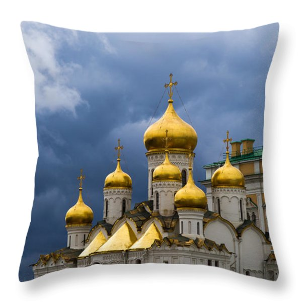 Cathedral Of The Annunciation Of Moscow Kremlin Throw Pillow by Alexander Senin