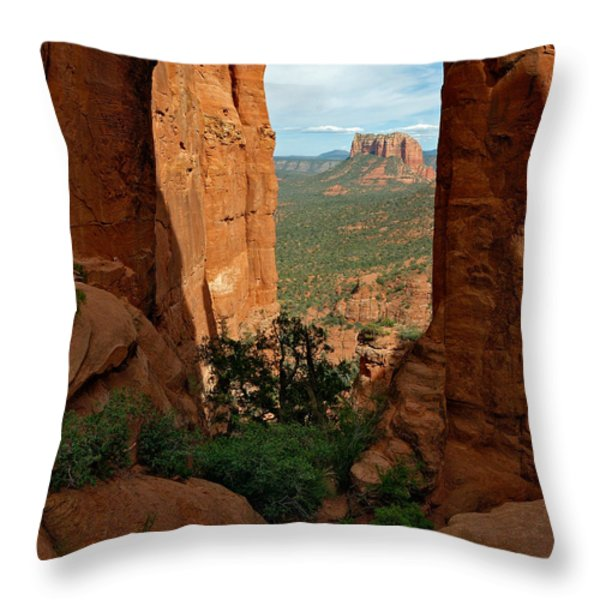 Cathedral Rock 05-012 Throw Pillow by Scott McAllister