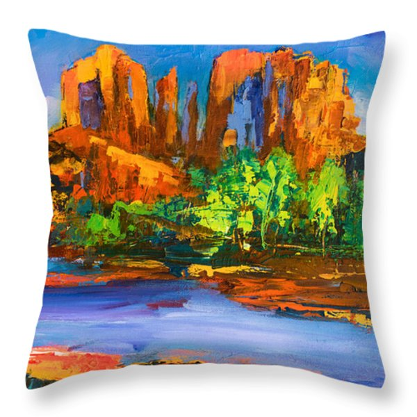 Cathedral Rock Afternoon Throw Pillow by Elise Palmigiani