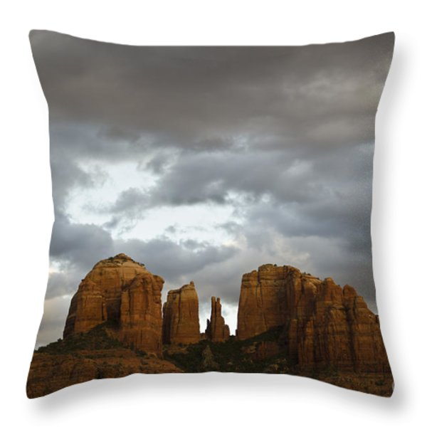 Cathedral Rock Throw Pillow by David Gordon