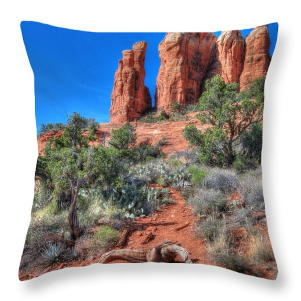 Cathedral Rock Throw Pillow by Lori Deiter