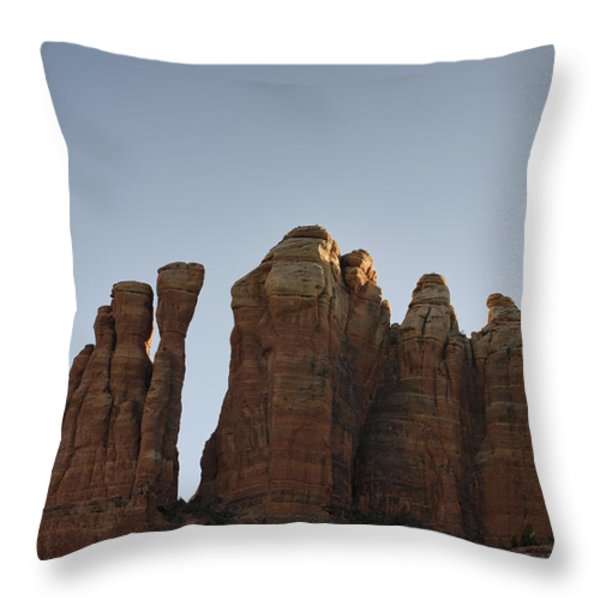 Cathedral Rock Spires Throw Pillow by David Gordon