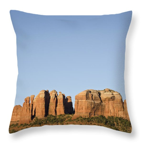 Cathedral Rock VI Throw Pillow by David Gordon